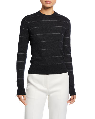 Striped Fitted Cashmere Sweater