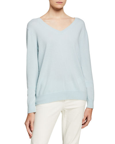 Weekend V-Neck Cashmere Pullover Sweater