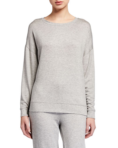 Round-Neck Long-Sleeve Jersey Box Top