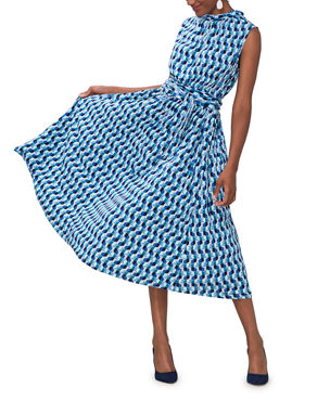 db812ac3 Leota Mindy Printed Sleeveless Midi Dress
