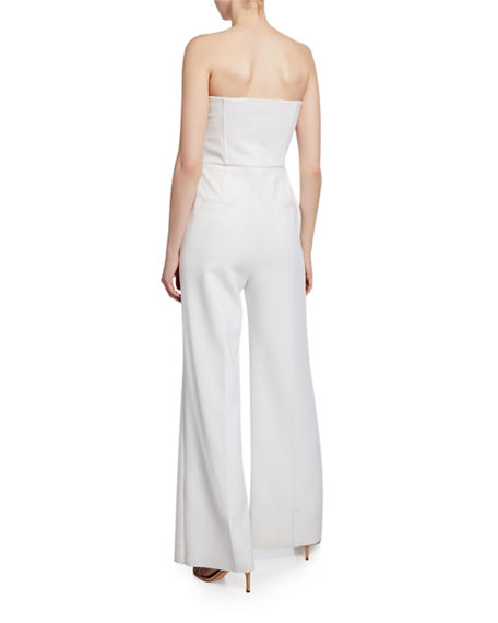 Image 2 of 2: Kobi Halperin Julie Strapless Wide-Leg Jumpsuit