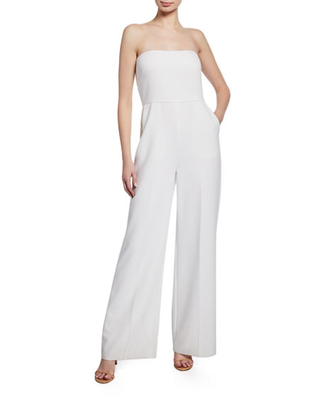 Image 1 of 2: Kobi Halperin Julie Strapless Wide-Leg Jumpsuit