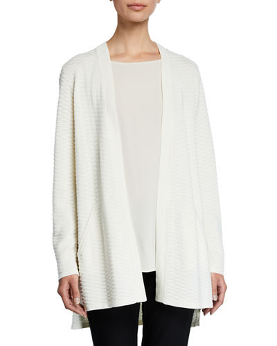 Simple Textured Silk/Cotton Cardigan