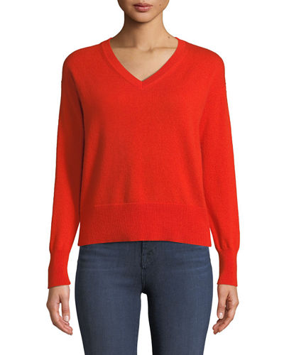 Easy V-Neck Cashmere Pullover Sweater