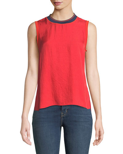 Nick Sleeveless Crewneck Top