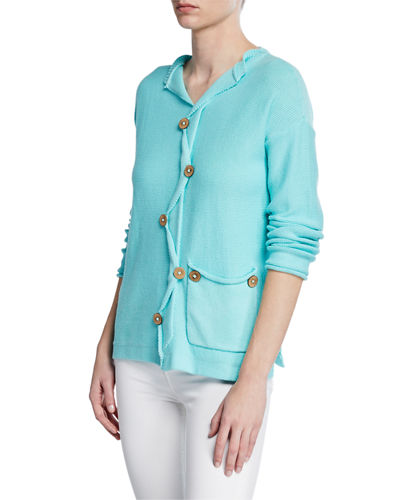 Plus Size All Smiles Cotton Sweater w/ Deco Buttons