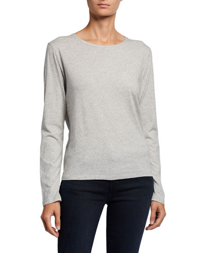 Silk Touch Long-Sleeve Crewneck Tee
