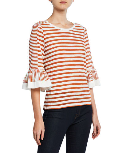 7bafb07b3f1d Boat Neck Striped Top | Neiman Marcus