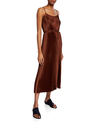 Pleated Cami Maxi Dress