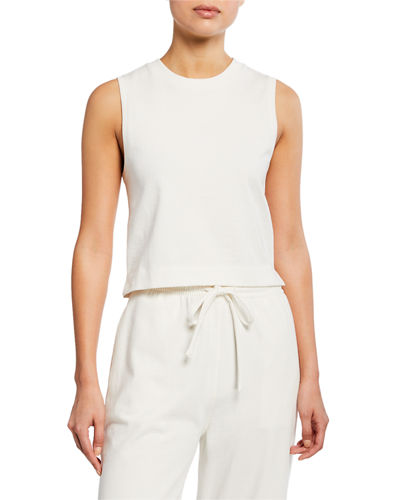 Cropped Cotton Shell Tank