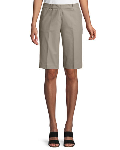 Lafayette 148 New York Manhattan Techno-Stretch Twill Slim Bermuda Shorts