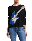 Lisa Todd Guitar Cashmere Sweater w/ Slit Neck