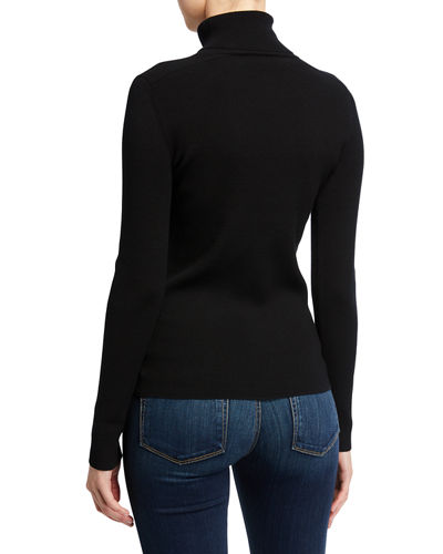 Tory Burch Ribbed Tech Stretch Turtleneck Sweater