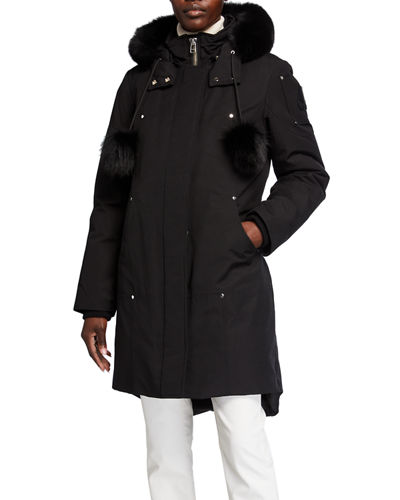 Stirling Parka w/ Detachable Hood & Fur Trim