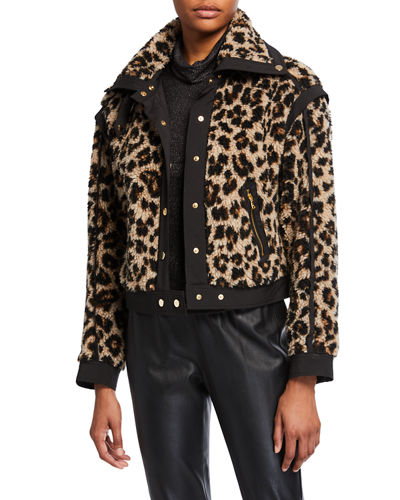 Anita Faux-Fur Snap-Front Jacket