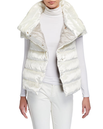 Short High-Collar Puffer Coat