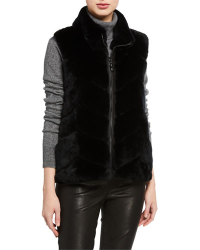 Belle Fare Rabbit Chevron Vest w/ Knit Back
