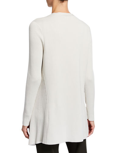 Eileen Fisher Angle Front Silk Blend Cardigan