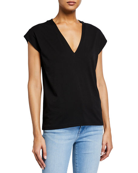 frame le mid rise v neck tee neiman marcus le mid rise v neck tee