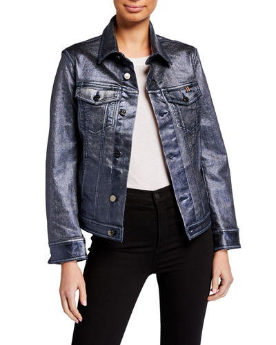 Jeanne Metallic Trucker Jacket