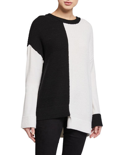 Sparrow Crewneck Asymmetric Tunic Sweater