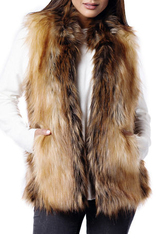 Fabulous Furs Limited Edition Faux-Fur Vest - Inclusive Sizing