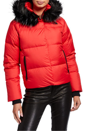 The North Face Dealio Down Crop Jacket w/ Faux Fur