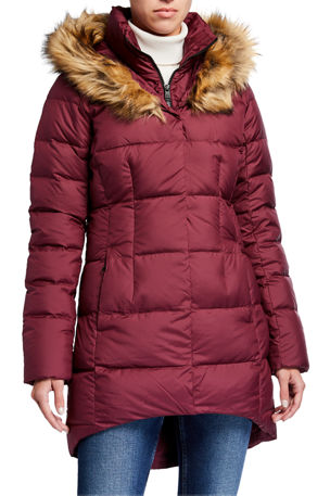 The North Face Dealio Down Parkina w/ Faux Fur Trim