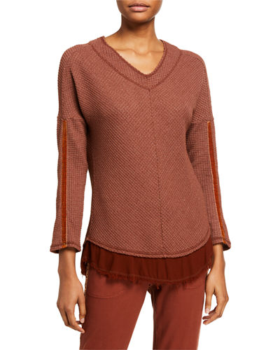 Self Care Thermal Long-Sleeve V-Neck Top
