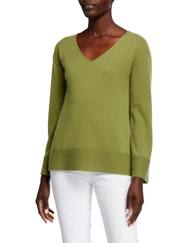 Ribbed Imported Cashmere Sweater | Neiman Marcus