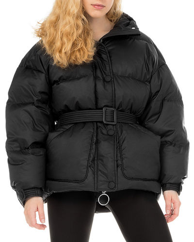 Michlin Belted Puffer Jacket