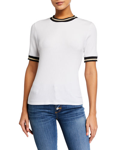 Ekland Ribbed Metallic Tee
