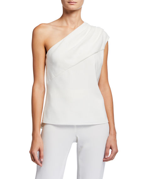 Elie Tahari Bela One-Shoulder Shirt