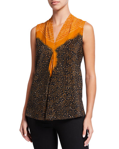 Sophie Bleached Sleeveless Silk Blouse