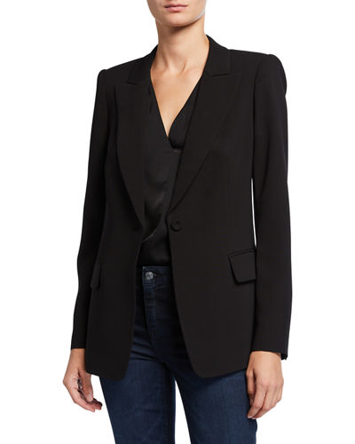 Joelle One-Button Solid Jacket