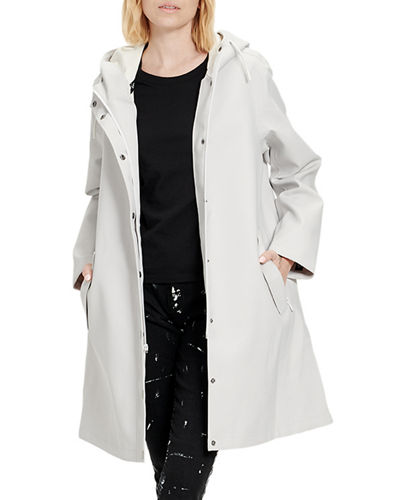 Zooey Hooded Trench Rain Jacket