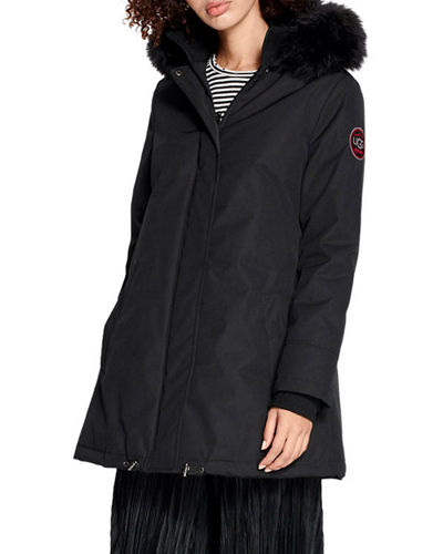 Bernice Parka Coat w/ Faux-Fur Trim