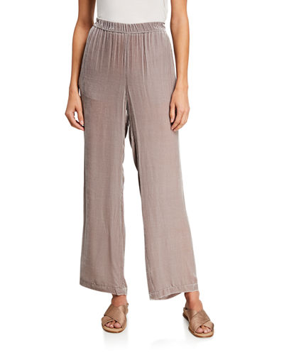 Eileen Fisher Velvet Straight-Leg Pants