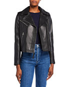 Derek Lam 10 Crosby Fitted Lamb Leather Moto