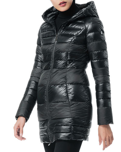 SNOWMAN New York Monologue Matte/Glossy Hooded Down Coat