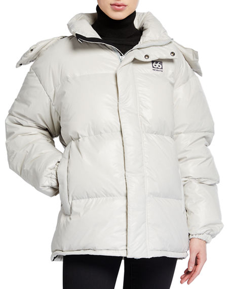 66 North Dyngja Lightweight Down Jacket w/ Detachable Hood
