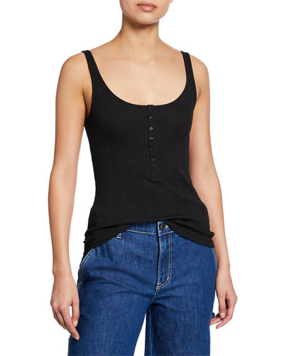 Scoop-Neck Henley Tank