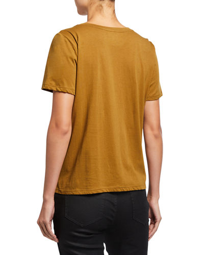 Eileen Fisher Petite Round-Neck Short-Sleeve Tee