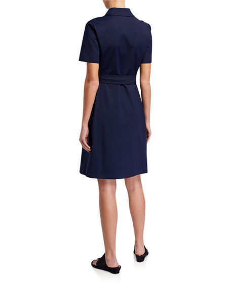 Image 2 of 3: Lafayette 148 New York Kylie Button-Front Fundamental Bi Stretch Dress
