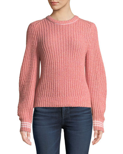 Cheryl Long-Sleeve Crewneck Sweater