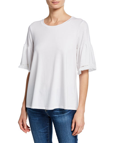 Trimmed-Sleeve Swing Tee