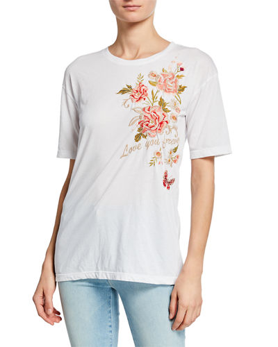 Plus Size Cecil Love You Forever Short-Sleeve Jersey Tee
