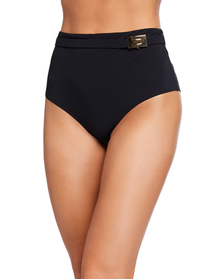 Image 1 of 2: Tory Burch T-Belt High-Waist Bikini Bottom