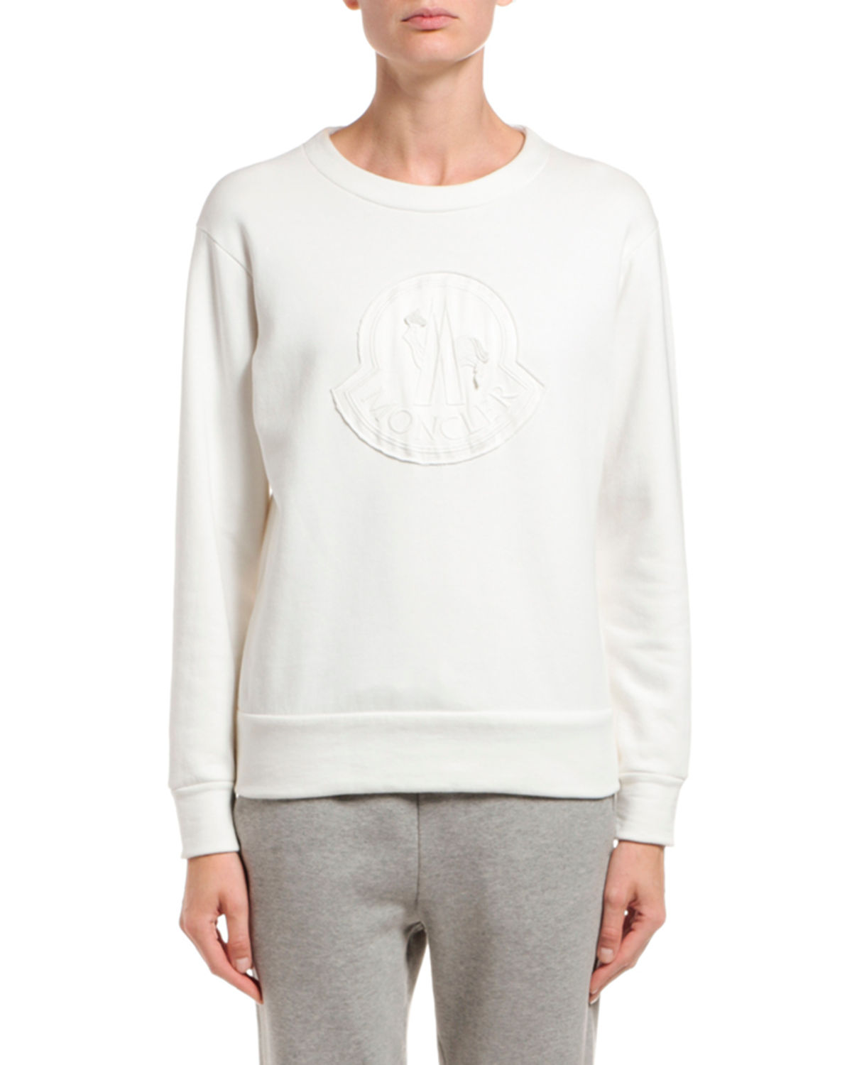 Moncler Logo Embroidered Crewneck Sweatshirt