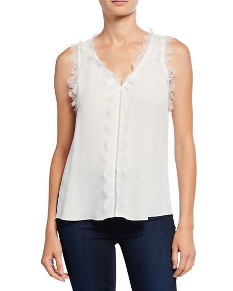 Kobi Halperin Plus Size Evelyn Sleeveless Blouse with Lace